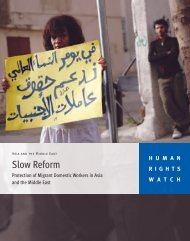 Slow Reform - Human Rights Watch