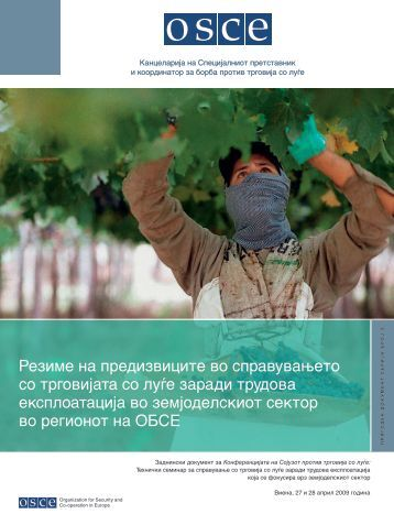 Резиме на предизвиците во справувањето со трговијата ... - OSCE