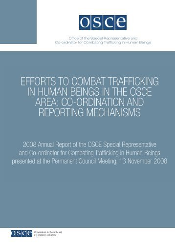 EFFORTS TO COMBAT TRAFFICKING IN HUMAN BEINGS ... - OSCE