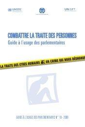 combattre la traite des personnes - United Nations Office on Drugs ...
