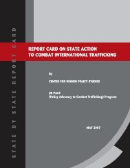 Report Card on State Action to Combat International Trafficking