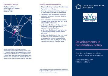 Developments in Prostitution Policy