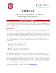 not my life - UN.GIFT.HUB - UN Global Initiative to Fight Human ...