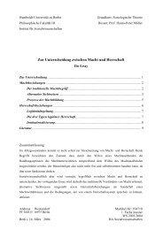 Macht und Herrschaft - Website von Andreas Westendorf