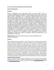 La economía y las formas urbanas en América Latina - Universidad ...
