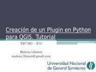 Creación de un Plugin en Python para QGIS. Tutorial