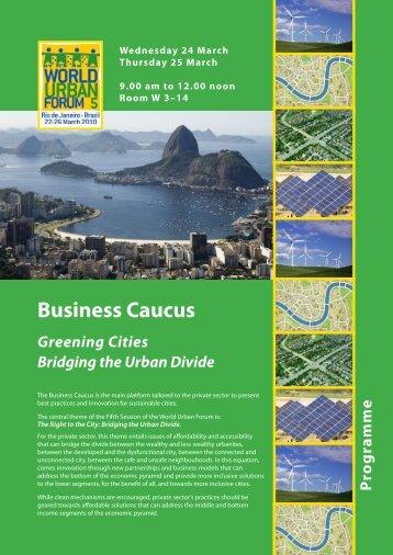 Business Caucus: Greening Cities Bridging the Urban ... - UN-Habitat
