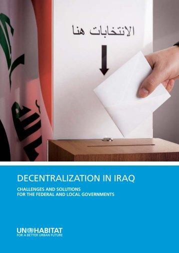 Decentralization in iraq - UN-Habitat