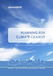 Planning for Climate Change - UN-Habitat