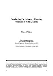 Developing Participatory Planning Practices in Kitale ... - UN-Habitat