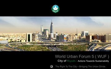 City of Riyadh : Actions Towards Sustainability - UN-Habitat