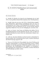1985 Exekutiv-Komitee: Flüchtlingsfrauen und ... - UNHCR