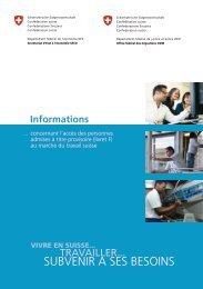 Informations concernant l'accès des personnes ... - EJPD - admin.ch