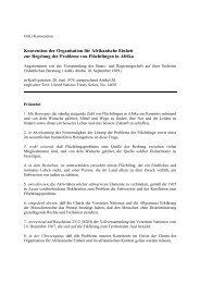 Konvention der Organisation für Afrikanische Einheit zur ... - UNHCR