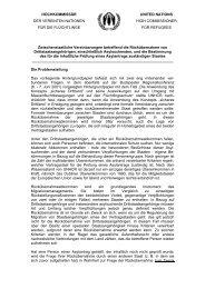 Stellungnahme zu zwischenstaatlichen Rücknahmeabkommen - unhcr