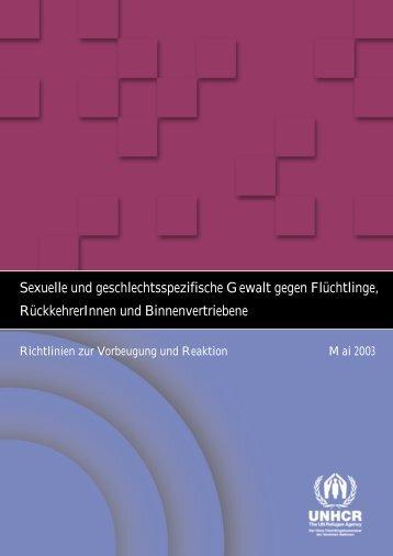 Sexuelle und geschlechtsspezifische Gewalt gegen ... - unhcr