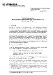 Stellungnahme zur Rechtsstellung anerkannter Flüchtlinge ... - unhcr
