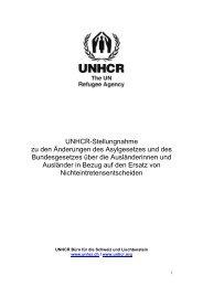 UNHCR-Stellungnahme zu den Änderungen des Asylgesetzes und ...