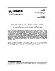 Principes directeurs sur la protection internationale - Refworld