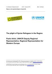 The plight of Syrian Refugees in the Region. Paolo Artini, UNHCR ...