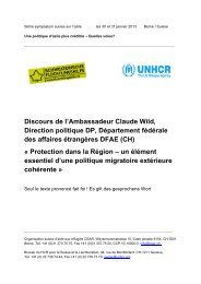 un élément essentiel d'une politique migratoire extérieure ... - UNHCR