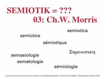 SEMIOTIK = ??? 03: Ch.W. Morris