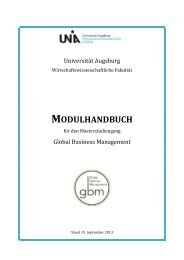 Modulhandbuch Master Global Business Management WS 2013/14