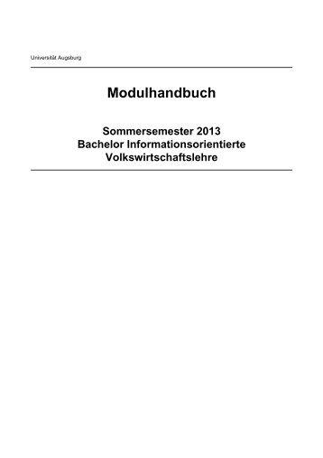 Modulhandbuch - Universität Augsburg
