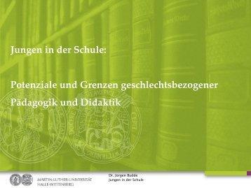 Jungen in der Schule - Universität Augsburg