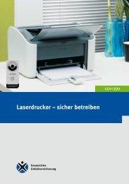 GUV-I 820 - Laserdrucker - sicher betreiben