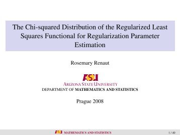 The Chi-squared Distribution of the Regularized Least Squares ...