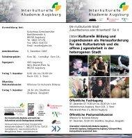 weitere Informationen - Universität Augsburg