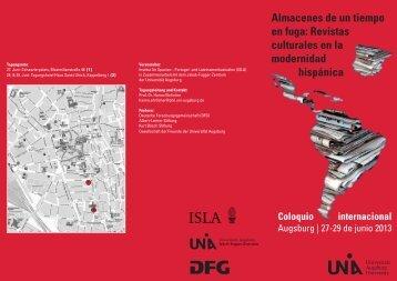 Almacenes de un tiempo en fuga: Revistas culturales en la ...