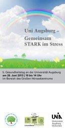 Uni Augsburg – Gemeinsam STARK im Stress - Universität Augsburg