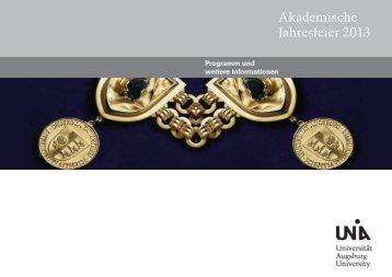 Dies_handout_2013 - Universität Augsburg