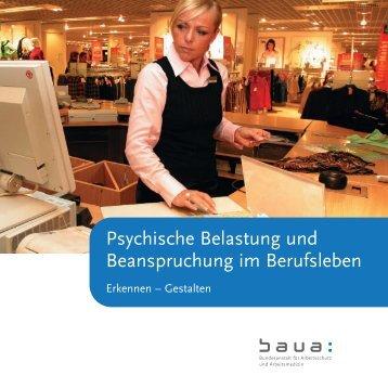 Psychische Belastung und Beanspruchung im Berufsleben