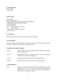 Curriculum Vitae - Universität Augsburg