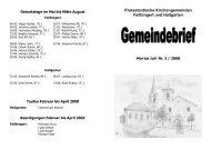 Protestantische Kirchengemeinden Feilbingert und Hallgarten