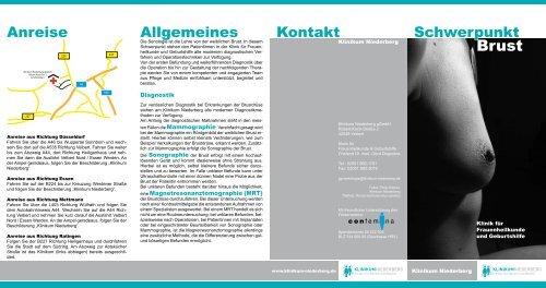 Schwerpunkt Brust - Klinikum Niederberg