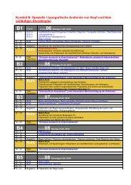 Stundenplan SS 2010 (Kursteil B)