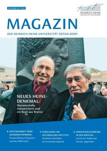 Uni-Magazin 2012-04 (pdf) - Heinrich-Heine-Universität Düsseldorf