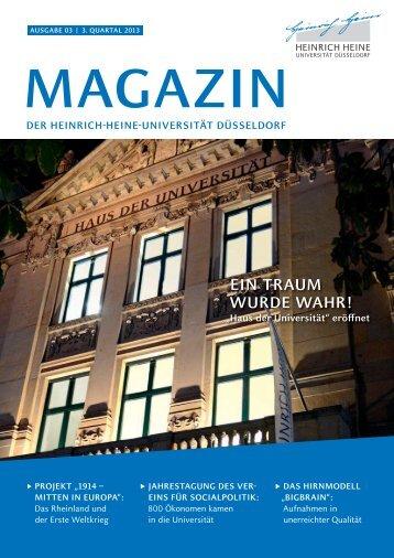 Uni-Magazin 2013 03 - Heinrich-Heine-Universität Düsseldorf