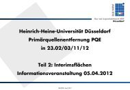 Präsentation Infoveranstaltung PQE - 23.ff, Teil 2 - Heinrich-Heine ...