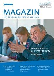 Uni-Magazin 2013/1 - Heinrich-Heine-Universität Düsseldorf