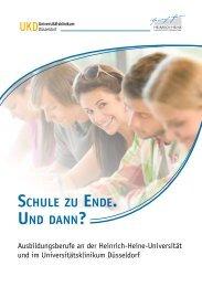 schule zu ende. und dann - Heinrich-Heine-Universität Düsseldorf