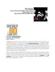 Reviews of: The Chase- David White Jazz Orchestra