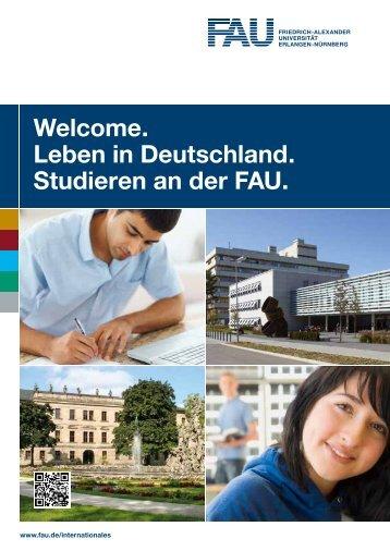 Leben in Deutschland. Studieren an der FAU. - Friedrich-Alexander ...