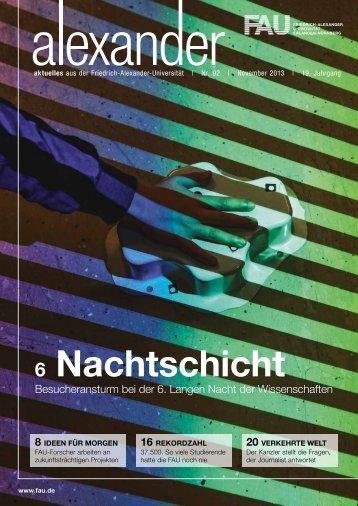 6 Nachtschicht - Friedrich-Alexander-Universität Erlangen-Nürnberg
