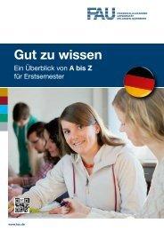 Gut zu wissen - Friedrich-Alexander-Universität Erlangen-Nürnberg