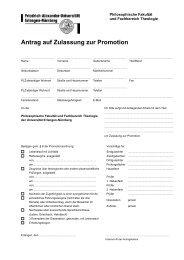 Antrag auf Zulassung zur Promotion - Friedrich-Alexander ...